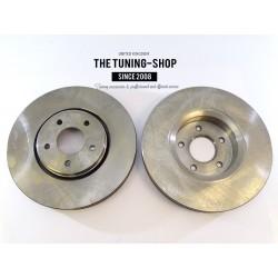 2x Brake Disc Rotor Front 31475 AS TEC For INFINITI FX35 FX37 FX45 QX70