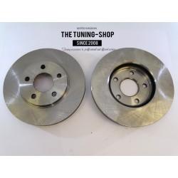 2x Brake Disc Rotor Front 55122 JASON 580382 For CHEVROLET HHR 2006-2011