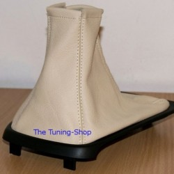 JAGUAR X-TYPE 01-06 CREAM LEATHER GEAR GAITER SHIFT BOOT