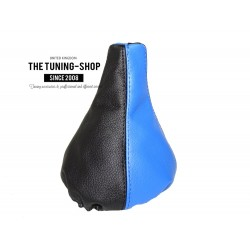 FOR VW GOLF 2 MK2 83-91 GEAR GAITER SHIFT BOOT BLACK & BLUE LEATHER
