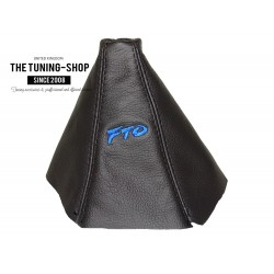 FOR MTSUBISH FTO 1994-2000 GEAR GAITER BLACK LEATHER EMBROIDERY FTO BLUE