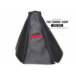 FOR MTSUBISH FTO 1994-2000 GEAR GAITER BLACK LEATHER EMBROIDERY FTO RED