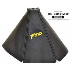 FOR MTSUBISH FTO 1994-2000 GEAR GAITER BLACK LEATHER EMBROIDERY FTO YELLOW