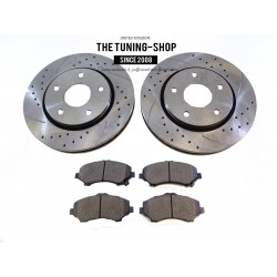 2x Front Brake Disc Rotor 53051A Brake Pads D1273 CBK For Chrysler Town & Country Dodge Grand Caravan