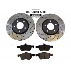 2x Brake Disc Rotor Front 53002 CBK & Brake Pads D1059 CBK ForChrysler Town & Country Voyager
