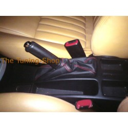 ALFA ROMEO 156 FL 03-05 HANDBRAKE GAITER BOOT LEATHER RED STITCH