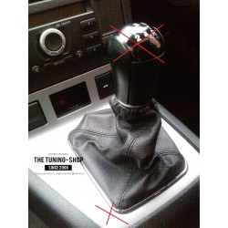 FOR FORD MONDEO MK3 03-06 GEAR GAITER SHIFTER BOOT BLACK LEATHER NEW