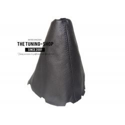 FOR TOYOTA COROLLA E15 E150 2007-2013 MANUAL GEAR GAITER BLACK LEATHER BLACK STITCHING