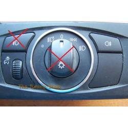 BMW E60 E61 2003-2006 1 x CHROME SURROUND RING FOR LIGHTS SWITCH POLISHED ALUMINIUM NEW