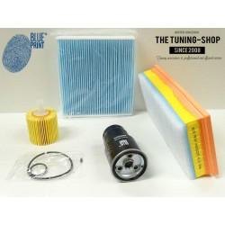 Premium Service Kit for Toyota Yaris Vitz 1.4 D-4D 09-11 Air Fuel Cabin Oil Filters Blue Print New