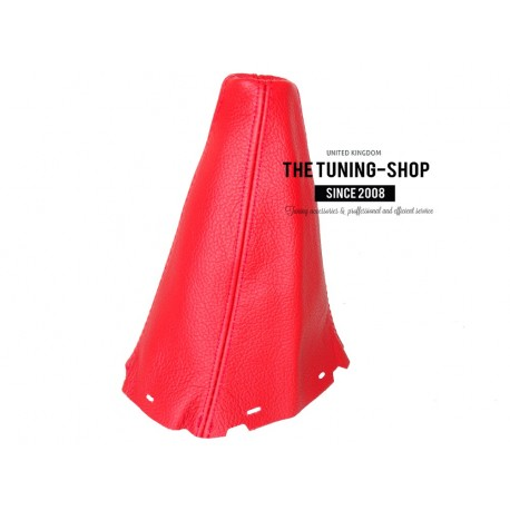FOR TOYOTA AVENSIS 2003-2008 5 speed GEAR GAITER RED LEATHER BLACK STITCHING