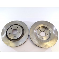 2x Brake Disc Rotors Front 53053 JASON For CHRYSLER 300C DODGE CHALLENGER CHARGER MAGNUM