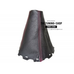 FOR TOYOTA AVENSIS MK3 2009-2014 T270 GEAR GAITER BLACK LEATHER RED STITCHING