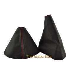 MAZDA MX-5 MX5 MK3 GEAR HANDBRAKE GAITER LEATHER RED STITCHING