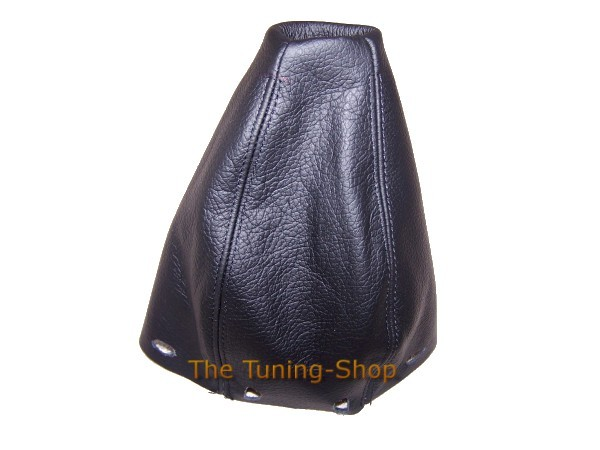 FITS MERCEDES A CLASS W 168 GEAR GAITER REAL LEATHER BLACK DOUBLE STITCH