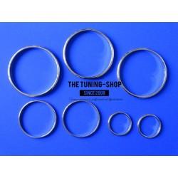 FOR  TOYOTA SUPRA MK4 93-98 CHROME DIAL RINGS TRIM SURROUNDS SET NEW