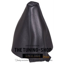 FOR AUDI A4 B5 95-97 GEAR GAITER SHIFT BOOT BLACK LEATHER