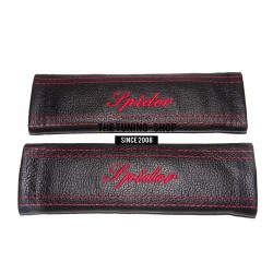 "FOR CITROEN PICASSO SEAT BELT COVERS EMBROIDERY RED ""PICASSO"" EMBROIDERY"