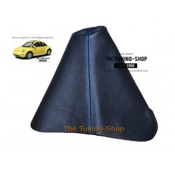 FOR  VW NEW BEETLE GEAR GAITER SHIFT BOOT BLUE STITCHING NEW