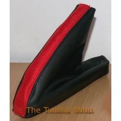 MG MGF TF MK1 MK2 HANDBRAKE GAITER BLACK + RED LEATHER NEW