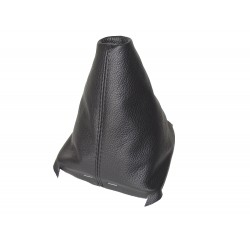 FOR SEAT LEON MK3 2012-2015 GEAR GAITER BLACK LEATHER