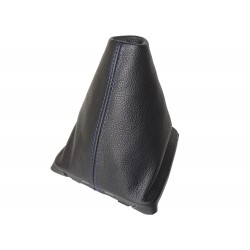 FOR SEAT LEON MK3 2012-2015 GEAR GAITER WITH PLASTIC FRAME LEATHER STITCHING RED