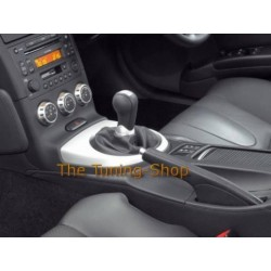 NISSAN 350Z 03-09 GEAR GAITER SHIFT BOOT BLACK LEATHER NEW
