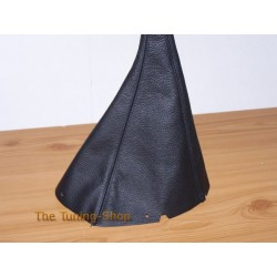 NISSAN PRIMERA P10 90-96 GEAR GAITER SHIFT BOOT BLACK LEATHER