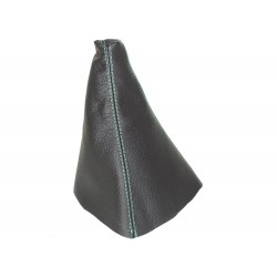 FOR RANGE ROVER P38 BLACK LEATHER GEAR GAITER TAN STITCHING