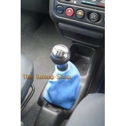 PEUGEOT 106 GEAR GAITER SHIFT BOOT BLUE ALCANTARA