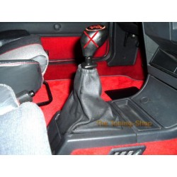 PEUGEOT 205 & GTI GEAR GAITER BOOT BLACK LEATHER NEW