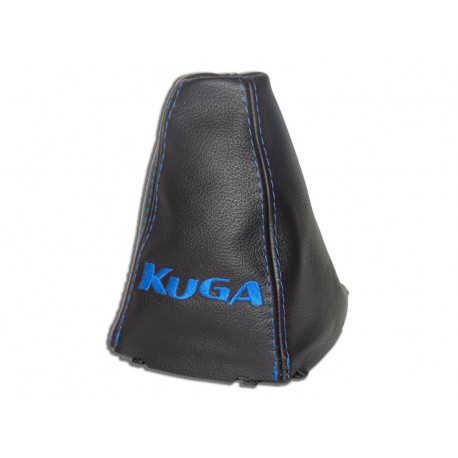 for ford kuga 2008 2012 gear gaiter with plastic frame leather kuga blue embroidery the. Black Bedroom Furniture Sets. Home Design Ideas