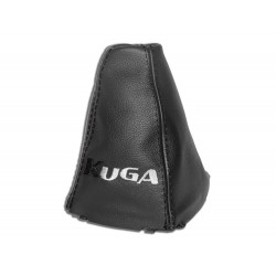 "FOR FORD KUGA 2008-2012 GEAR GAITER WITH PLASTIC FRAME LEATHER ""KIUGA"" BLACK EMBROIDERY"
