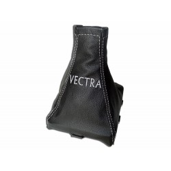 "FOR VAUXHALL OPEL VECTRA C 02-08 GEAR GAITER WITH PLASTIC FRAME LEATHER ""VECTRA"" BLUE EMBROIDERY"