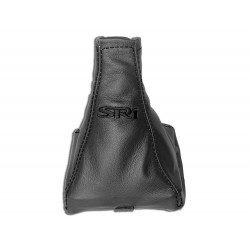 """FOR VAUXHALL OPEL VECTRA C 02-08 GEAR GAITER WITH PLASTIC FRAME LEATHER """"VECTRA"""" BLACK EMBROIDERY"""