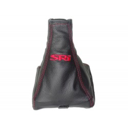 """FOR VAUXHALL OPEL VECTRA C 02-08 GEAR GAITER WITH PLASTIC FRAME LEATHER """"SRI"""" BLACK EMBROIDERY"""