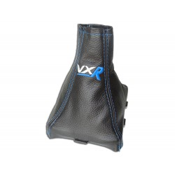"FOR VAUXHALL OPEL VECTRA C 02-08 GEAR GAITER WITH PLASTIC FRAME LEATHER ""VRX"" RED EMBROIDERY"