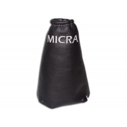 "FOR NISSAN MICRA 2006-2010 GEAR GAITER LEATHER ""Micra"" BLUE EMBROIDERY"