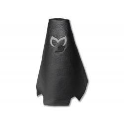 """FOR  MAZDA 3 2003-2009 GEAR GAITER LEATHER """"M3"""" GREY EMBROIDERY"""