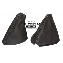 NISSAN 350Z 03+ GEAR & HANDBRAKE GAITERS BLACK ALCANTARA GREY ST