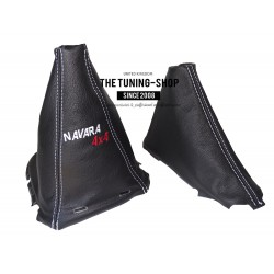 FOR NISSAN NAVARA PATHFINDER  2006-2012  GEAR AND HANDBRAKE GAITER WITH PLASTIC FRAME LEATHER