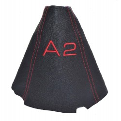 Gear Gaiter For Honda Civic MK7 EM2 ES2 2001-2006 Coupe Sedan Shift Boot Black Leather Red Stitching New