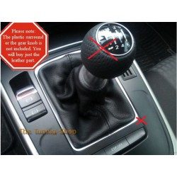 AUDI A4 B8 2008-2013 GEAR STICK GAITER REPLACEMENT SHIFT BOOT BLACK ITALIAN LEATHER COVER NEW