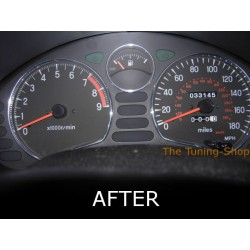 MITSUBISHI GTO 3000GT DODGE STEALTH CHROME DIAL GAUGE TRIM RINGS NEW