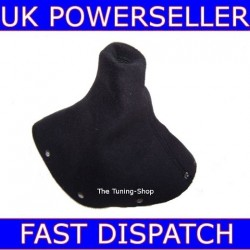 AUDI TT 98-06 GEAR GAITER SHIFT BOOT BLACK ALCANTARA/SUEDE