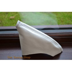 TOYOTA SUPRA MK4 93-02 HANDBRAKE GAITER WHITE LEATHER BLACK STITCHING