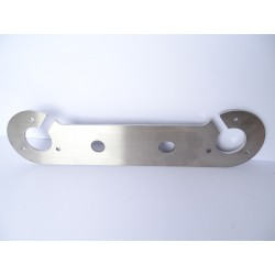 STAINLESS STEEL 4mm DOUBLE TOW BAR 7 PIN SOCKET MOUNTING PLATE Horizontal Mount