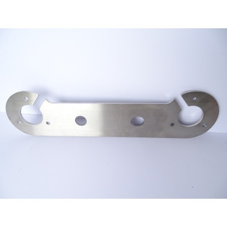 STAINLESS STEEL 4mm SINGLE TOW BAR 7 PIN SOCKET MOUNTING PLATE