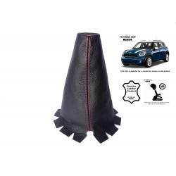 For Mini Cooper Countryman 2010-2016 Gear Stick Gaiter Leather Red Stitch