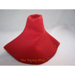 AUDI TT 98-06 GEAR GAITER SHIFT BOOT RED ALCANTARA/SUEDE